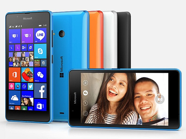 Microsoft Lumia 540 Dual SIM With 5-Inch Display Launched at Rs. 10,199