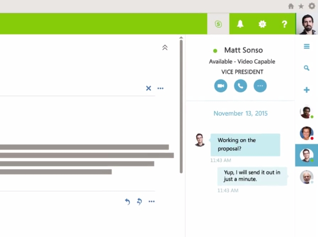 Office 365 for Web Gets Skype for Business Integration and More