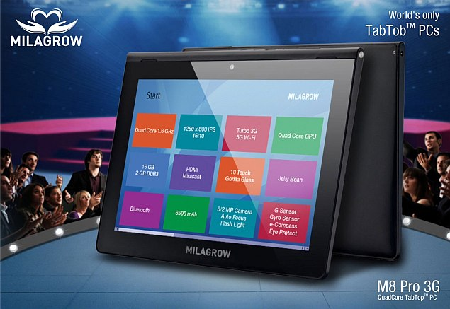 Milagrow M8 Pro 3G tablet with 9.4-inch display launched at Rs. 25,990