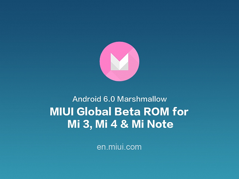MIUI Global Beta ROM Based on Android 6.0 Marshmallow Now Available
