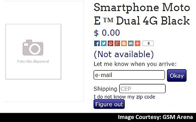 Motorola Moto E Dual 4G Briefly Listed by Online Retailer