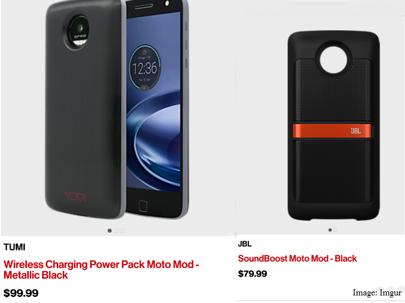 Motorola Moto Mods Price Leaked on Verizon App | Technology News