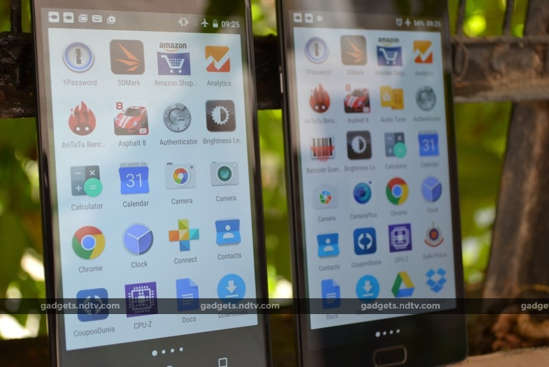 Moto X Play (left) and OnePlus 2