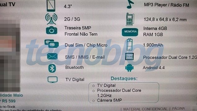Purported Motorola budget smartphone specifications pictured