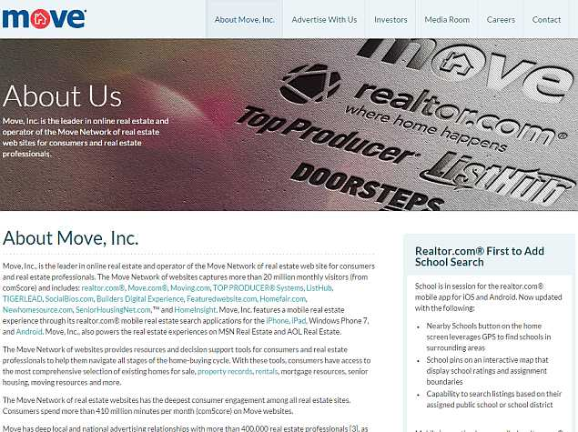 News Corp to Buy Real Estate Website Operator Move for $950 Million