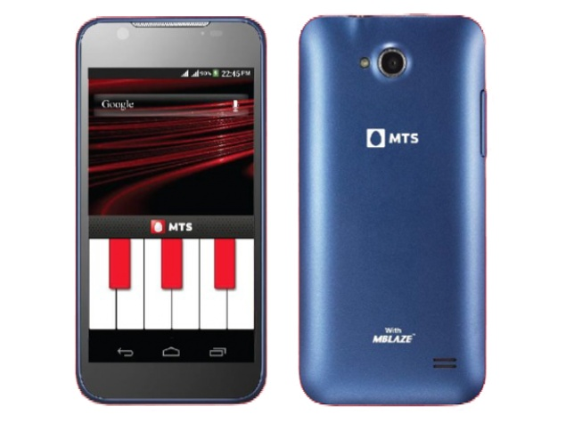 MTS Blaze 4.5 with GSM, CDMA support now available online at Rs. 9,999
