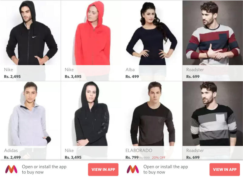 Myntra Partially Relaunches Its Mobile Website