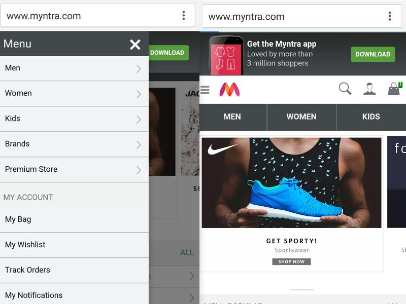 Myntra Completes U-Turn With Relaunch of Mobile Website