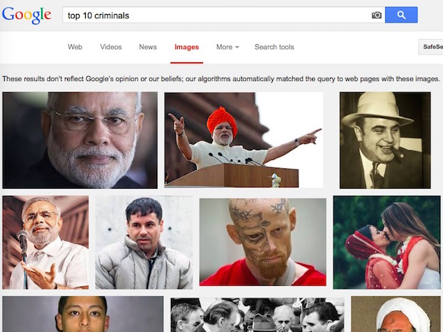 'Top 10 Criminals' Google Search Results Showing Narendra Modi: Storm in a Teacup