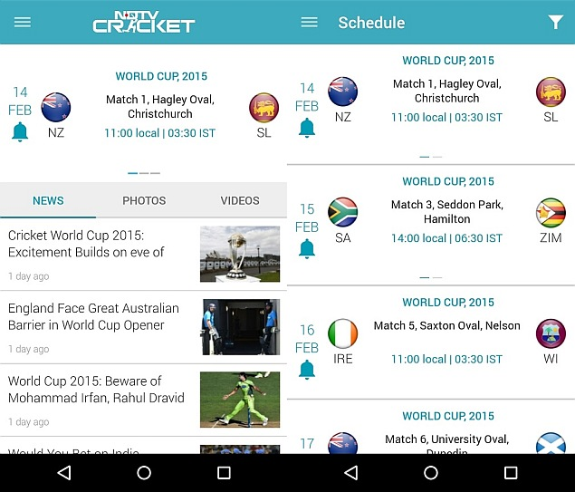 Track India vs. South Africa 2015 Cricket World Cup Updates With NDTV Cricket App