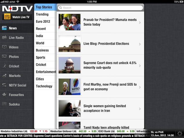 The all-new NDTV HD iPad is here