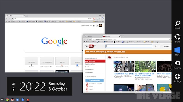 Google Chrome for Windows 8 beta brings Chrome OS-like functionality
