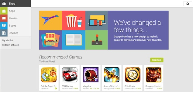 Google revamps Web version of the Play Store