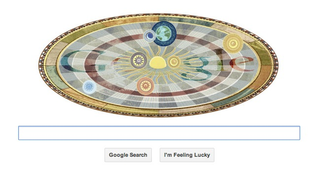 Nicolaus Copernicus's 540th birthday celebrated by animated Google doodle