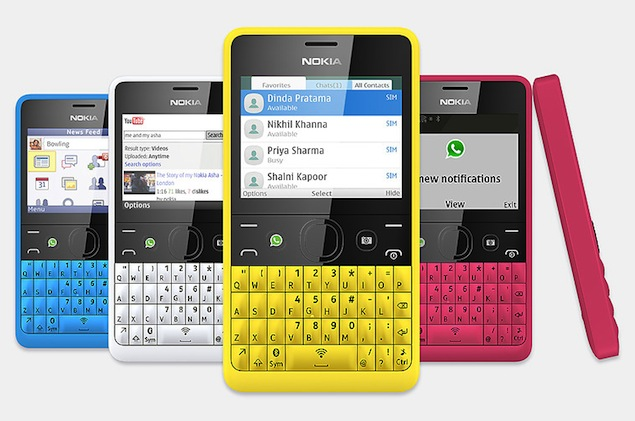 Nokia unveils Asha 210 with Wi-Fi and dedicated WhatsApp ...