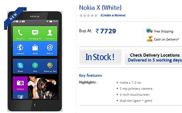 Nokia X Dual SIM Android smartphone price dropped to Rs. 7,729