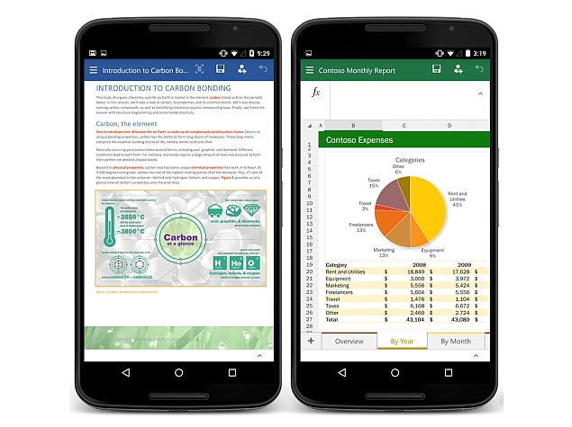 Microsoft Launches Office Preview Apps for Android Phones