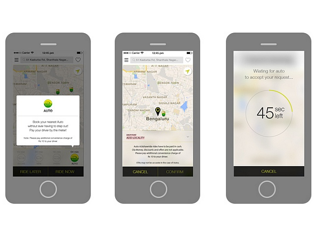 Ola Cabs Rolls Out On-Demand Auto Rickshaw Service in Delhi NCR