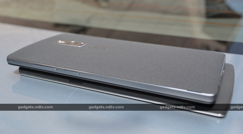OnePlus 2 sitting on top of the OnePlus One