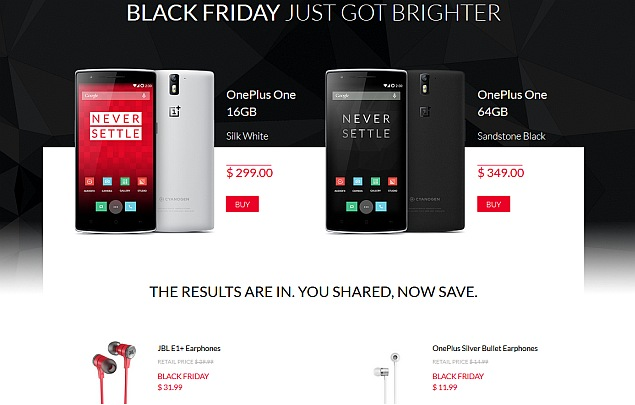 Oneplus One Available Without Invite Till Stocks Last For Black Friday Businesslogr