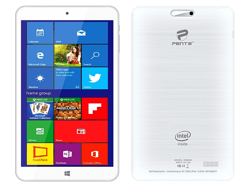 Pantel Penta T-Pad WS802X Tablet With Windows 10 Launched at Rs. 5,499