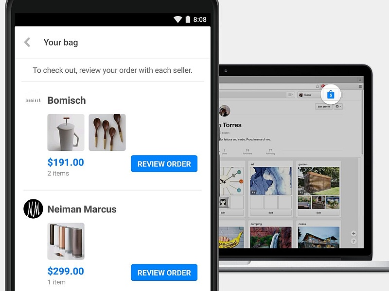 Pinterest's Shopping Bag Creates a Single Checkout for Shopping Across Sites