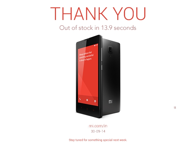 60,000 Redmi 1S Phones Go Out of Stock in 13.9 Seconds, Says Xiaomi