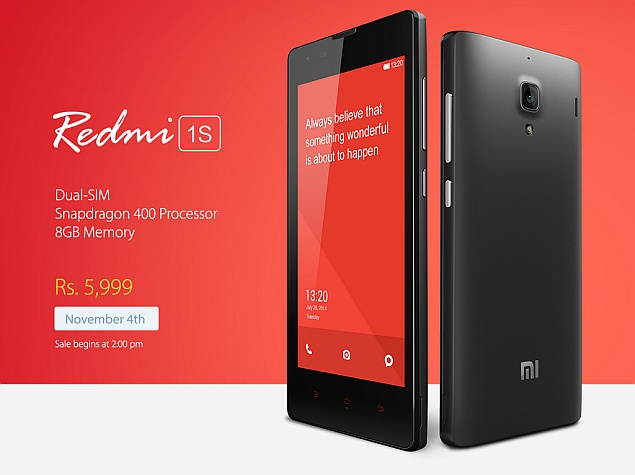 Xiaomi Announces Special Offers for Redmi 1S Flash Sale on Tuesday