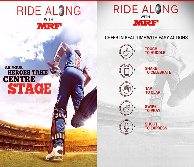 2015 Cricket World Cup: Tendulkar Launches MRF's Ride Along - Cricket Fan App