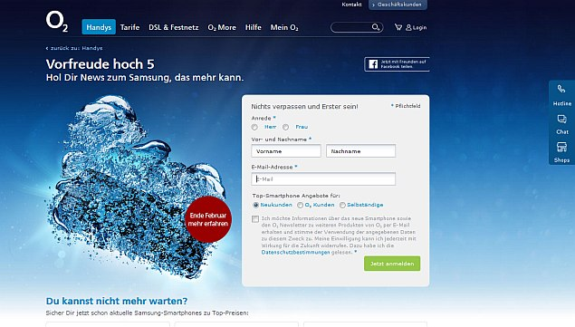 Samsung Galaxy S5 teased by O2 Germany for February-end launch