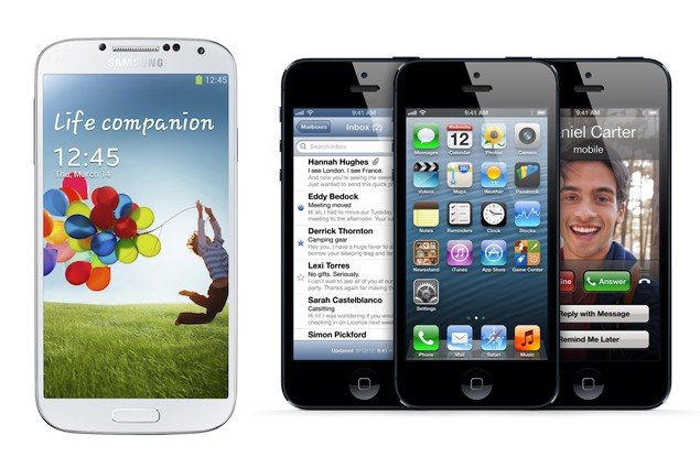 Samsung Galaxy S4 vs iPhone 5 and others - specs compared