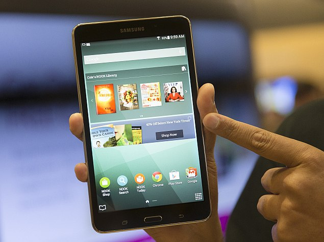 Barnes Amp Noble Launches Samsung Galaxy Tab 4 Nook At 179