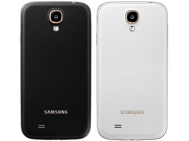 the latest e0fe6 0f15b Samsung Galaxy S4 faux-leather cover variants coming in more colours ...