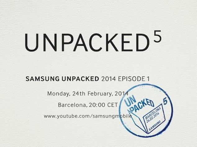 Samsung Galaxy S5 launch: Live video from MWC 2014 Barcelona unPacked event