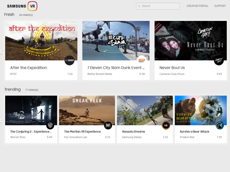 Samsung VR Launched, a Website Dedicated to 360-Degree Video Content