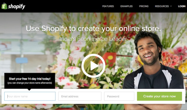 Shopify comes to India; sell goods or services online for Rs. 750 per month