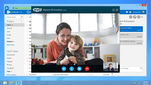Skype for Outlook.com now available globally, gains HD video chat support