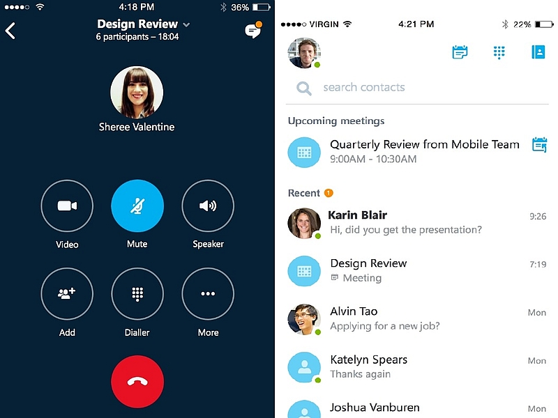 skype for business launched for ios android app due later this year