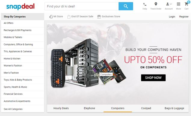 Snapdeal Rolls Out New Design for Mobile Apps, Website