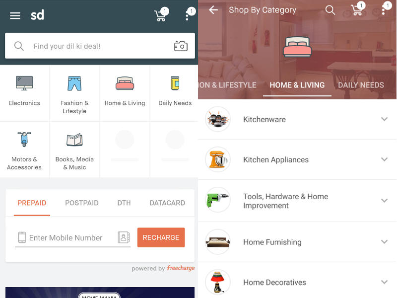 51f7f31d612 Snapdeal Unveils Revamped Android and iOS Apps