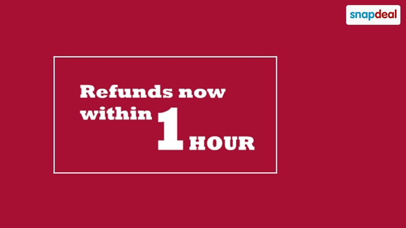 Snapdeal Counters Flipkart With 1-Hour Refunds