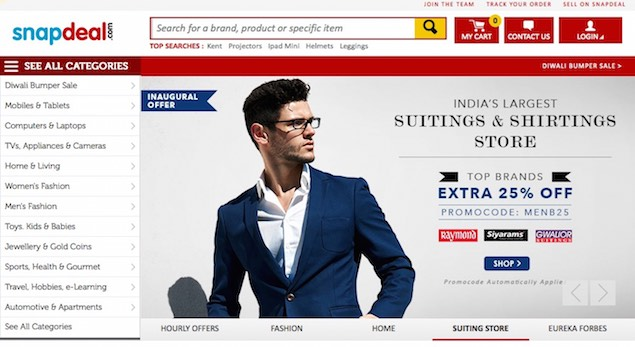 Snapdeal Says Monday Saw Sales of Over Rs. 1 Crore a Minute