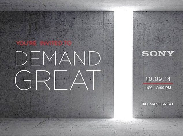 Sony Sends Out Invites for October 9 Event in New York