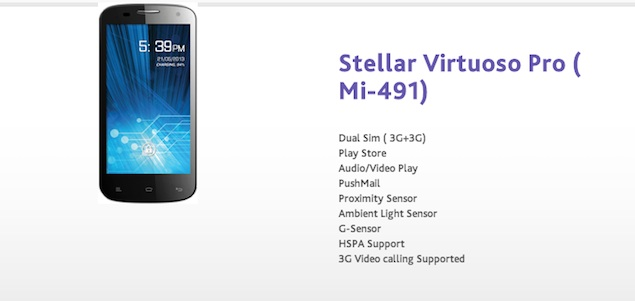 Spice Stellar Virtuoso Pro dual-SIM smartphone with Spice Cloud service launched