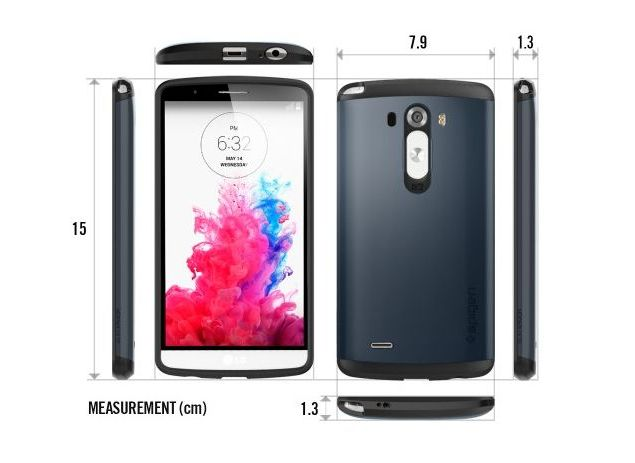 pretty nice 7126a b7839 LG G3 Dimensions Hinted at by Spigen Cover Case Listings ...