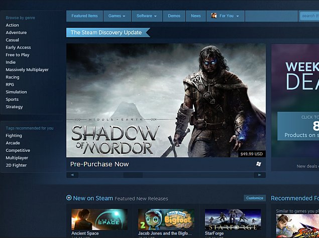 Valve Revamps Steam; Makes It Easier to Discover Games You Like