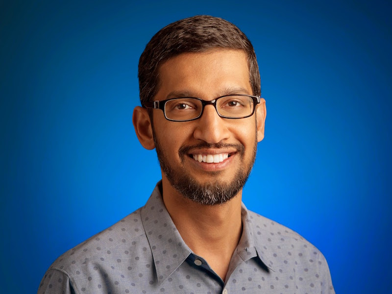 Sundar Pichai's Pay Package Rises to Nearly $200 Million in 2016
