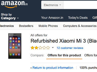Amazon India Now Selling Refurbished Smartphones