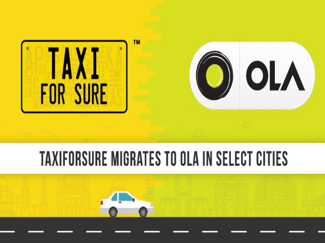 Ola Migrates TaxiForSure Accounts in 22 Cities