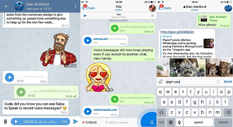 Telegram Update Brings Improved Voice Messages, Secret Chats, and More